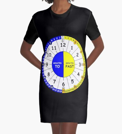 Clock for teaching the time V2 Graphic T-Shirt Dress