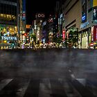 Tokyo Ghosts - Shibuya Crossing Long Exposure by Michelle McConnell