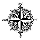Tribal Compass Rose by artsytoo