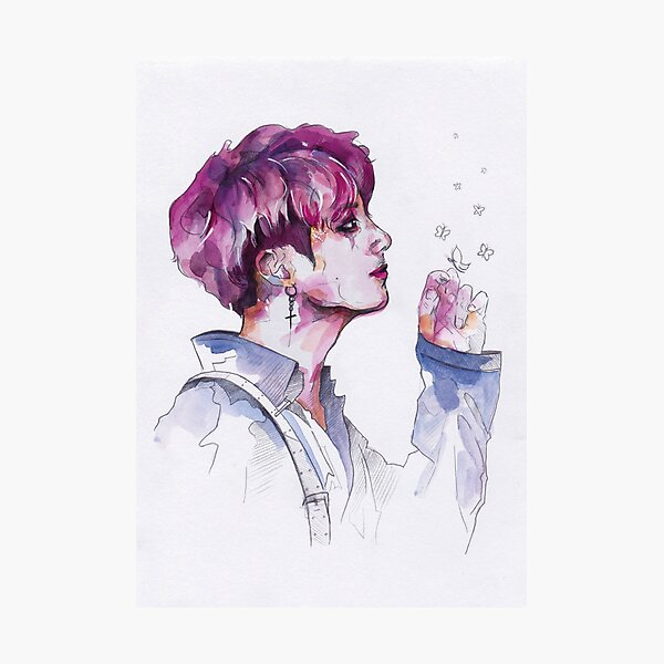 BTS - Jungkook Butterfly Photographic Print