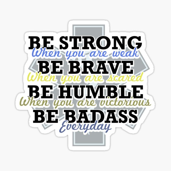 Gifts for EMT EMS Brave Proud Humble Heroes Sticker