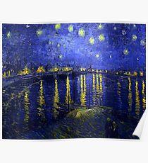 Sternennacht über der Rhone F474 Vincent van Gogh, Poster