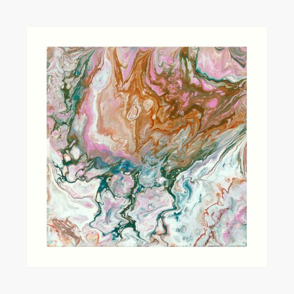 Fluid painting Art Print
