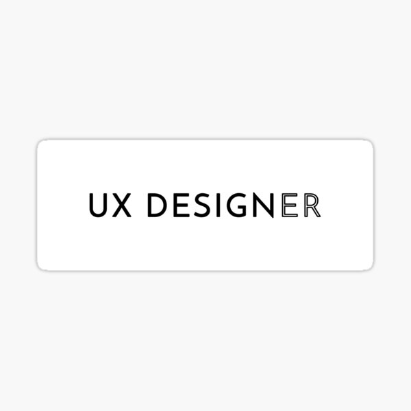 UX Designer (Inverted) Sticker