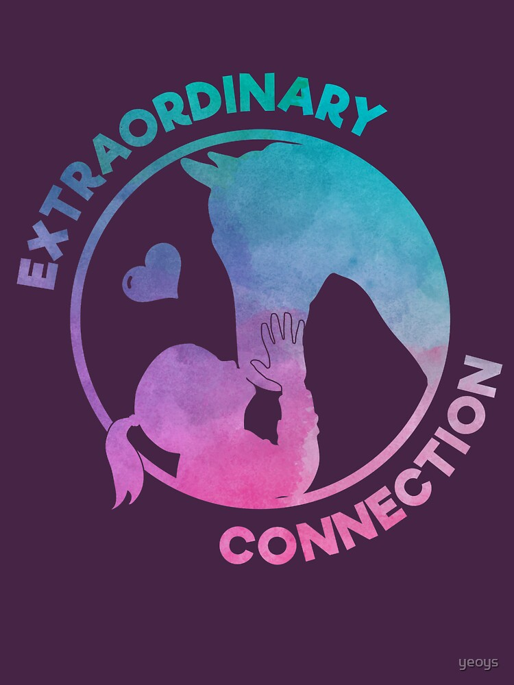 Extraordinary Connection - Funny Horse Quote Gift von yeoys