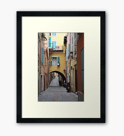 Villefranche Alley Framed Print
