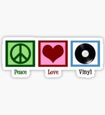 Peace Love Vinyl Records Sticker