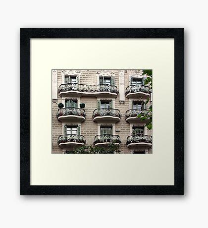 Barcelona Balconies Framed Print