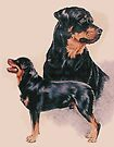 Rottweiler Double by BarbBarcikKeith
