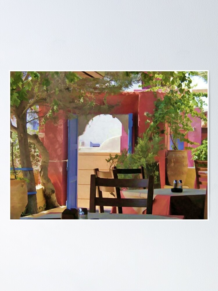 Alternate view of Santorini, Greece - Sit And Stay Awhile Poster