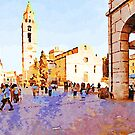 Teramo: cathedral and people by Giuseppe Cocco