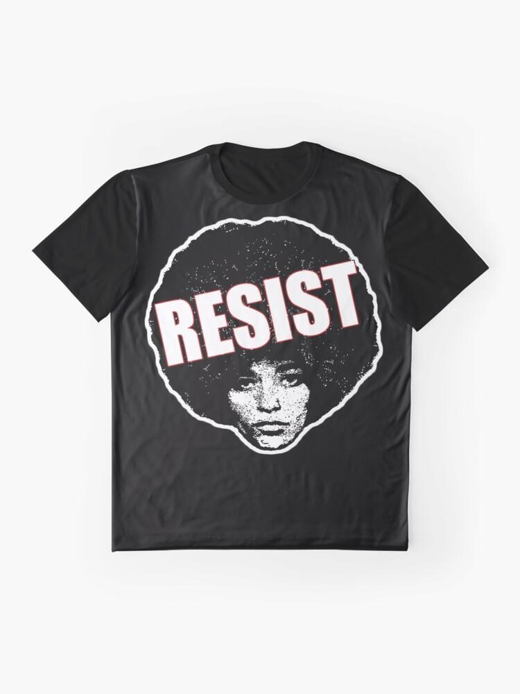 Alternative Ansicht von Angela Davis - Resist (schwarze Version) Grafik T-Shirt