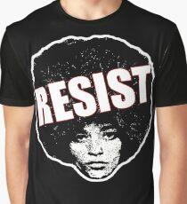 Angela Davis - Resist (black version) Graphic T-Shirt
