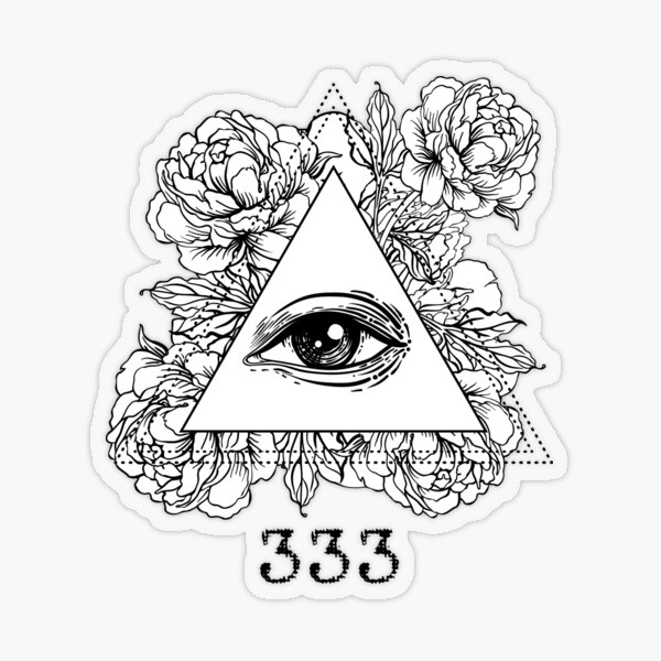 Mystic Number 333 Transparent Sticker