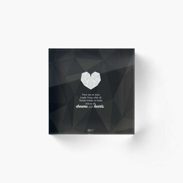 Fragile Things - QuotesWeLove Acrylic Block