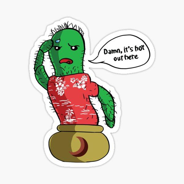 English Cactus Sticker