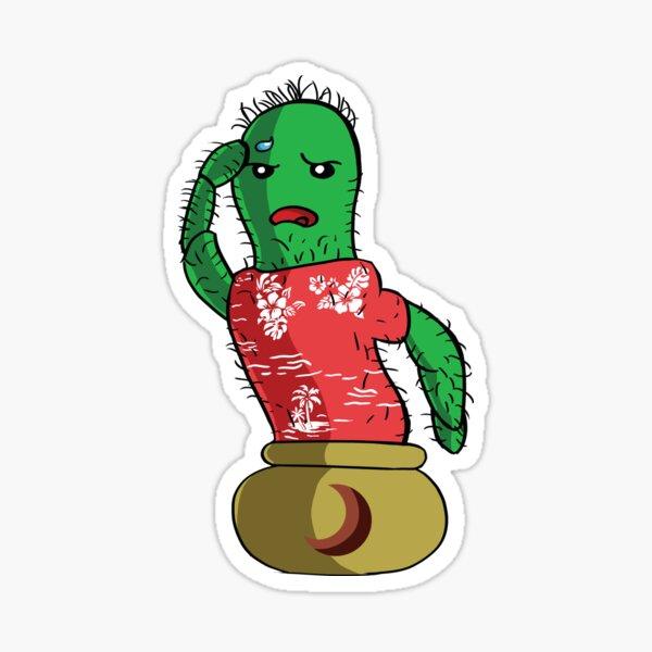 English Cactus - No Text Sticker