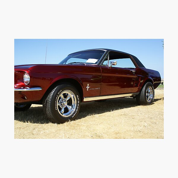 67 Mustang Coupe Photographic Print