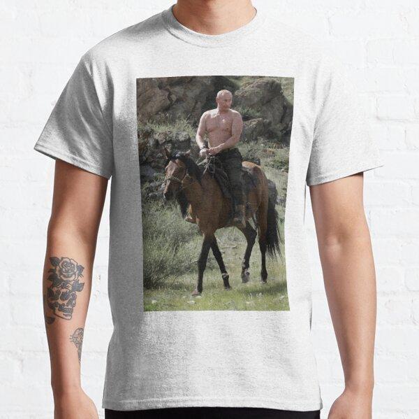 Vladimir Poutine à cheval T-shirt classique