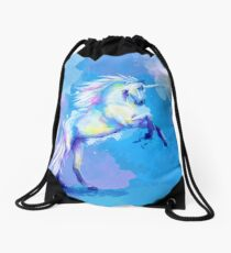 Unicorn Dream - fantasy animal painting Drawstring Bag
