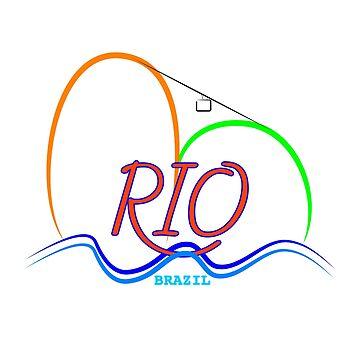 Sugarloaf Rio de Janeiro Brazil  by Almdrs