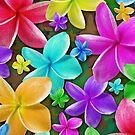 Plumerias Flowers Dream by BluedarkArt