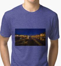 Bristol docks by night  Tri-blend T-Shirt