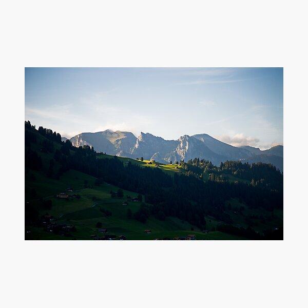 Last rays, Zweisimmen, Switzerland Photographic Print