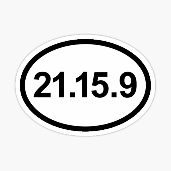21-15-9 CrossFit Sticker