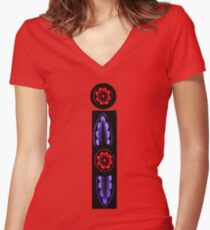 I - stained glass Women's Fitted V-Neck T-Shirt
