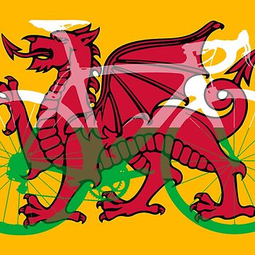 Bike Flag Wales (Big) v2 by sher00