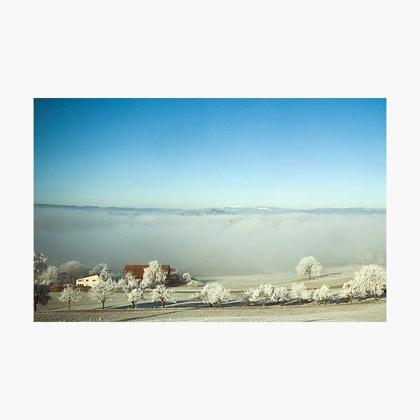 Winter landscape, Palezieux, Switzerland Photographic Print