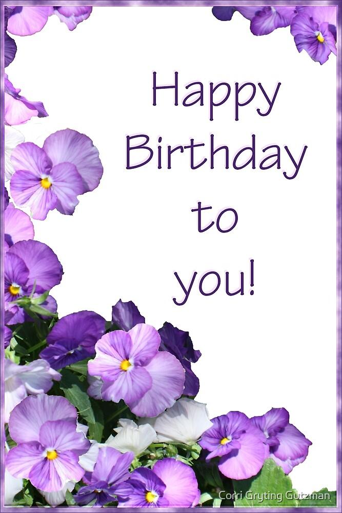 Happy Birthday Card by Corri Gryting Gutzman