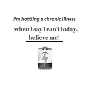 chronic illness t-shirt by cooltdesigns