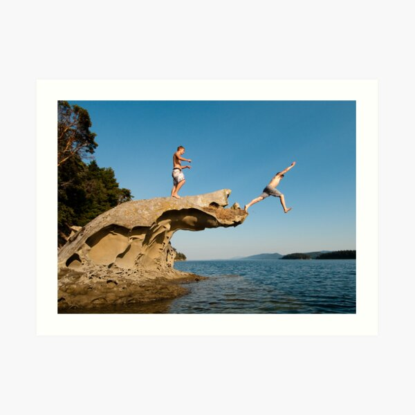 Leap of Faith: campbell Bay, Mayne Island Art Print