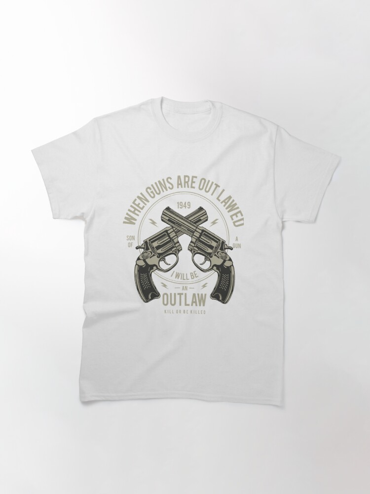 Alternate view of Outlaw Vintage Brutal T-shirt Classic T-Shirt