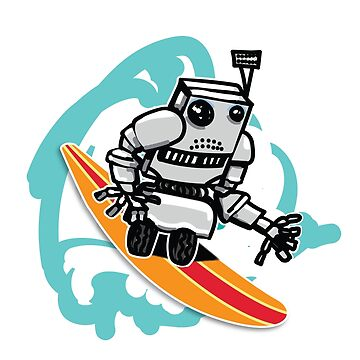 Robot Alien Surfer by LADGraphics