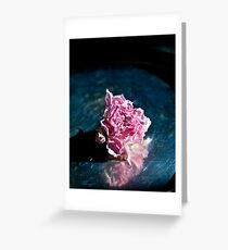 A Dried Rose Greeting Card