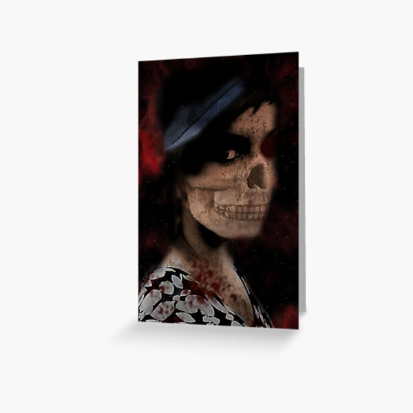 Scary woman.... Greeting Card