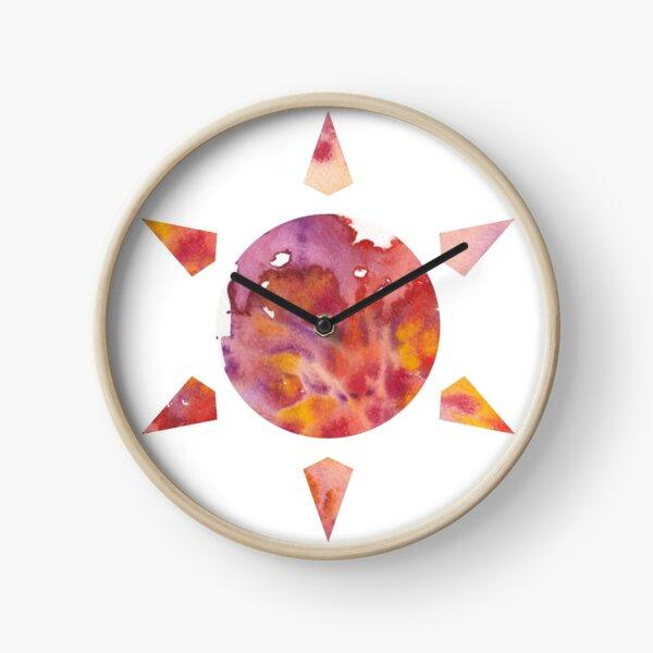 Watercoloured Sun Clock