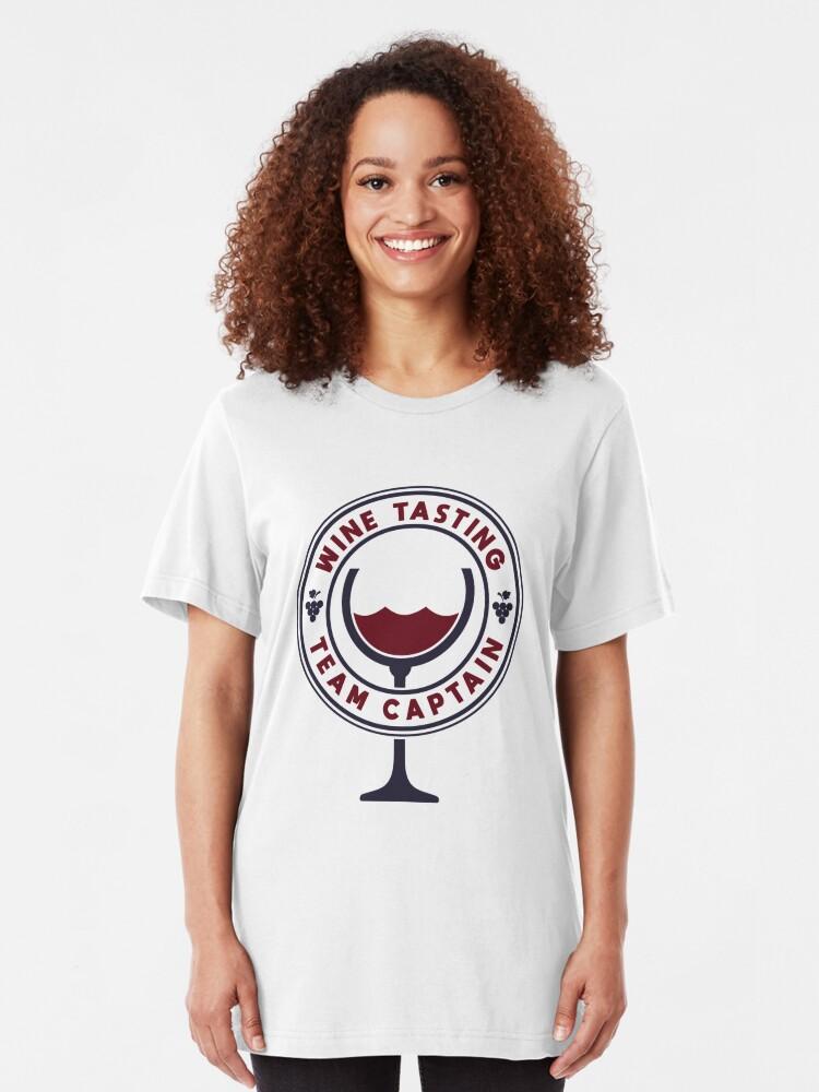 Alternative Ansicht von Wine Tasting Team Captain - Funny Wine Quote Gift Slim Fit T-Shirt