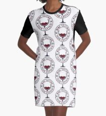 Wine Tasting Team Captain - Funny Wine Quote Gift T-Shirt Kleid