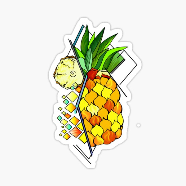 Pineapple and fruits Sticker