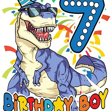 It's My 7TH Birthday Shirt - Dinosaur Party for 7 year old boy Shirt by fierromade