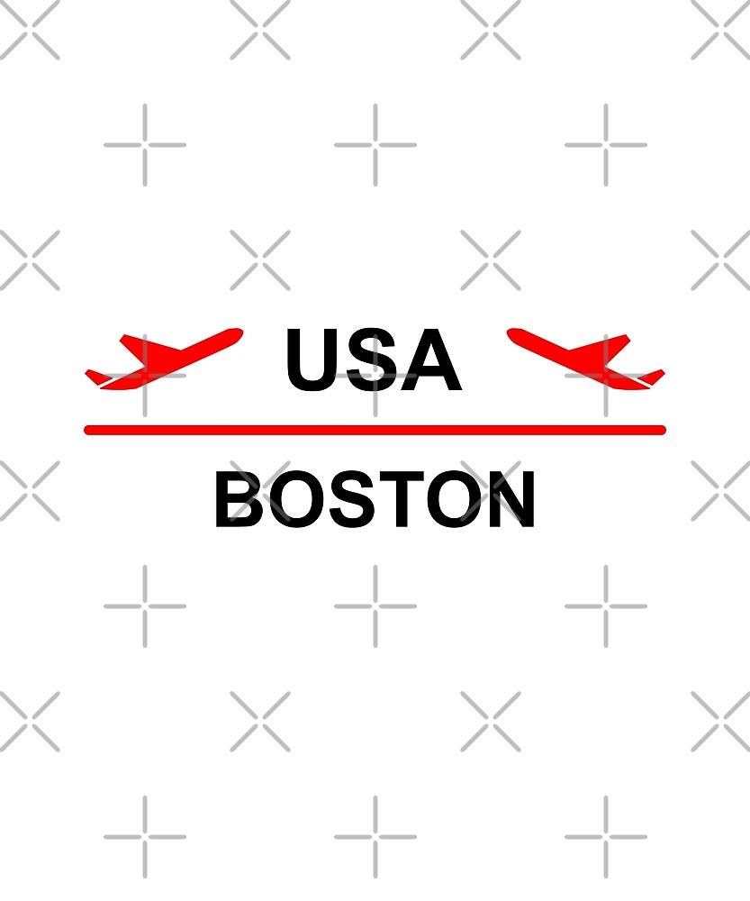 Boston USA Airport Plane Light-Color by TinyStarAmerica