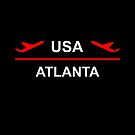 Atlanta USA Airport Plane Dark Color by TinyStarAmerica