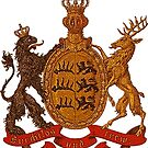 Württemberg Coat of Arms...Vintage 19th century by edsimoneit