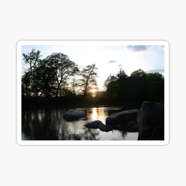 Sunset in the White Mountains Sticker