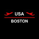 Boston USA Airport Plane Dark Color by TinyStarAmerica