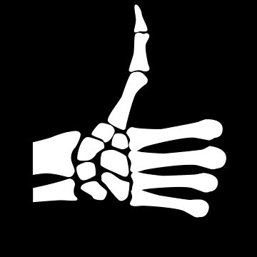 Thumbs Up Icon, Skeletal by SymbolGrafix